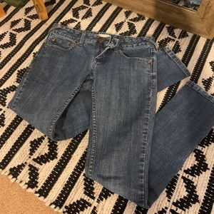 Skinny jeans with zipper detail